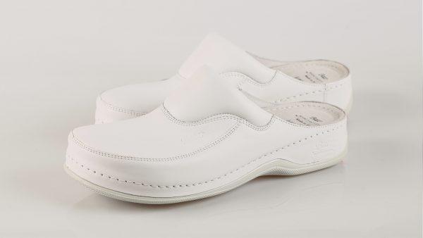 Batz FC04 - ženske klompe bijele boje – VV obuća trgovina - dvije bočno