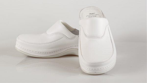 Batz FC04 - ženske klompe bijele boje – VV obuća trgovina - dvije cipele