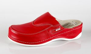 Batz FC10 – ženske klompe crvene boje - bočno