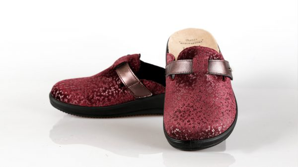Batz IVETT – ženske papuče bordo boje – VV obuća trgovina - obje papuče