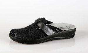 Batz IVETT – ženske papuče crne boje – VV obuća trgovina - bočna