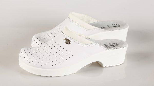 Fratelli Babb D11 – bijela ženska klompa – VV obuća t…