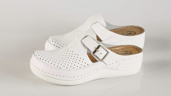 Fratelli Babb D300 – bijela ženska klompa – VV obuća …