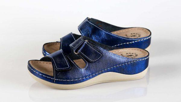 Fratelli Babb D303 – plava metalic ženska natikača – …