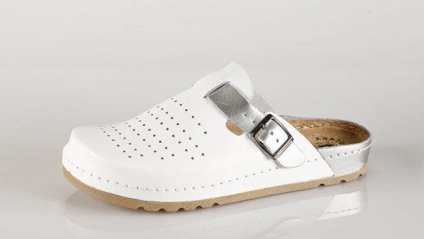 Fratelli Babb D312 – bijelo srebro ženska klompa – VV …