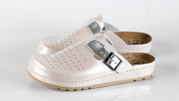 Fratelli Babb D312 – puder srebro ženska klompa – VV o…
