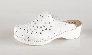 Fratelli Babb D43 – bijela ženska klompa – VV obuća t…