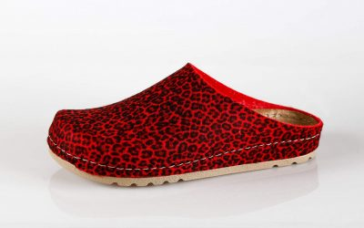 Ženska papuča W1 Fratelli Babb Crvena Leopard