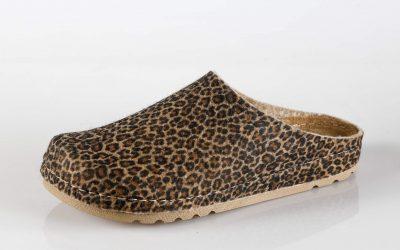Ženska papuča W1 Fratelli Babb Smeđa Leopard