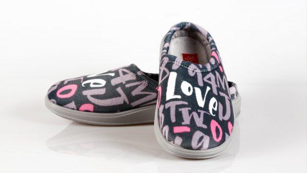 MilaMi 4LOVE GREY – ženska papuča – VV obuća trgovina
