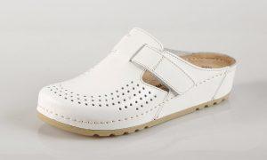Mubb 8888 – bijela ženska klompa – VV obuća trgovina