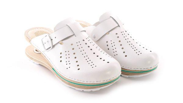 Ženska feder klompa F01 Biancomolina Cvjetna 2 – VV obuća
