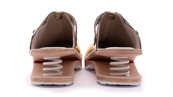 Ženska feder klompa A06 Biancomolina Zlatna – VV obuća