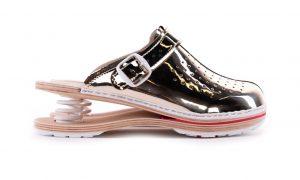 Ženska zračna klompa F06 Biancomolina Zlatna – VV obuća
